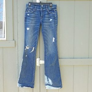 7 of all man kind 'A' pocket women's size 29 jeans